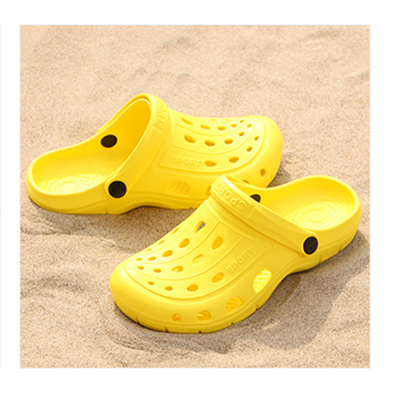 2018 New Solides Men/Women Summer Sandals Mens Croc Sandals Sandalias Couple Summer Hollow Shoes Beach Garden women Nest Shoes