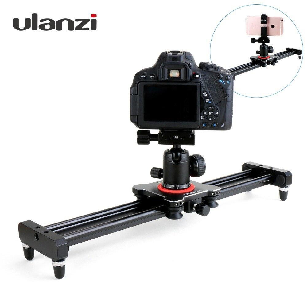 Ulanzi 40 cm/50 cm DSLR cámara de Video deslizador pista Dolly carril sistema estabilizador para Canon Pentax Sony videocámara SLR película