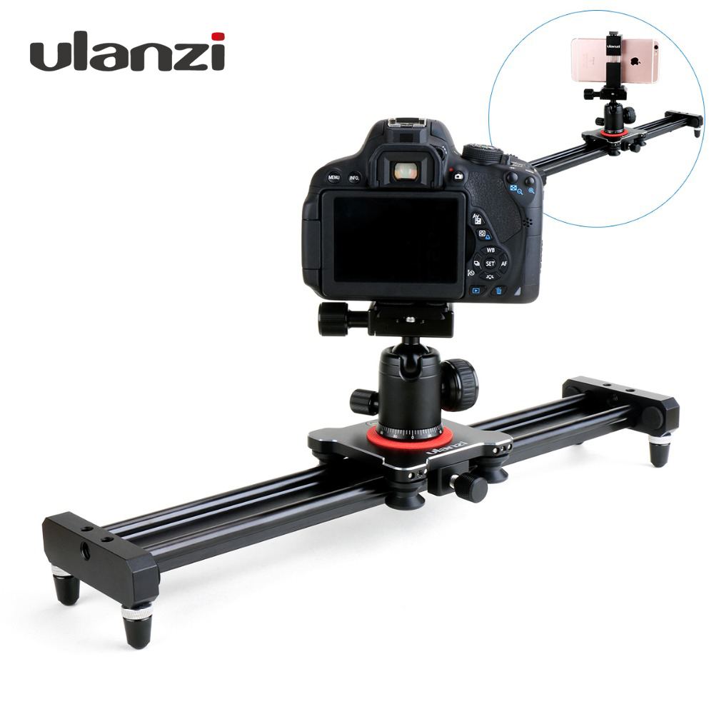 Ulanzi 40cm/50cm DSLR Camera Video Slider Track Dolly Rail Stabilizer System for Canon Pentax Sony Camcorder SLR Movie Film ulanzi 40cm 15in mini aluminum camera video track dolly slider rail system for nikon canon dslr camera dv movie vlogging gear
