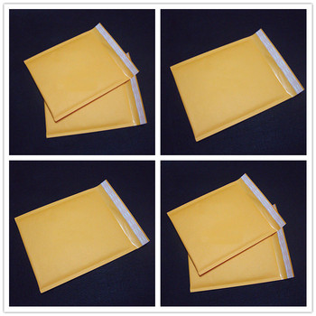 1/5/10PCS Yellow Kraft Paper Bubble Envelopes Bags Mailers Padded Shipping Envelope With Bubble Mailing Bag Business Supplies image