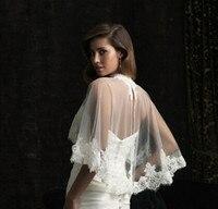 Long Sleeve Lace Ivory Shawl Bolero Wedding Jacket Bridal Shrug Wraps Custom Size T34