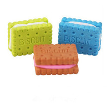 1Pc Novelty Student Food Eraser Cute Rubber Doughnut Cream Biscuit Party Bag Gift Goods for School Office Erasers Erase Supplies