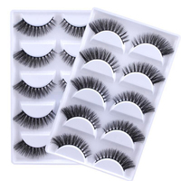 YOKPN 10 Box / Lot 3D Mink False Eyelashes Faux Real Fake Eyelashes Natural Extension Eye Tail Dense Thick Mink Hair Eye Lashes