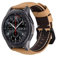 V MORO Genuine Leather Strap For Gear S3 Smart Watch Band Replacement Watch Bracelet For Gear