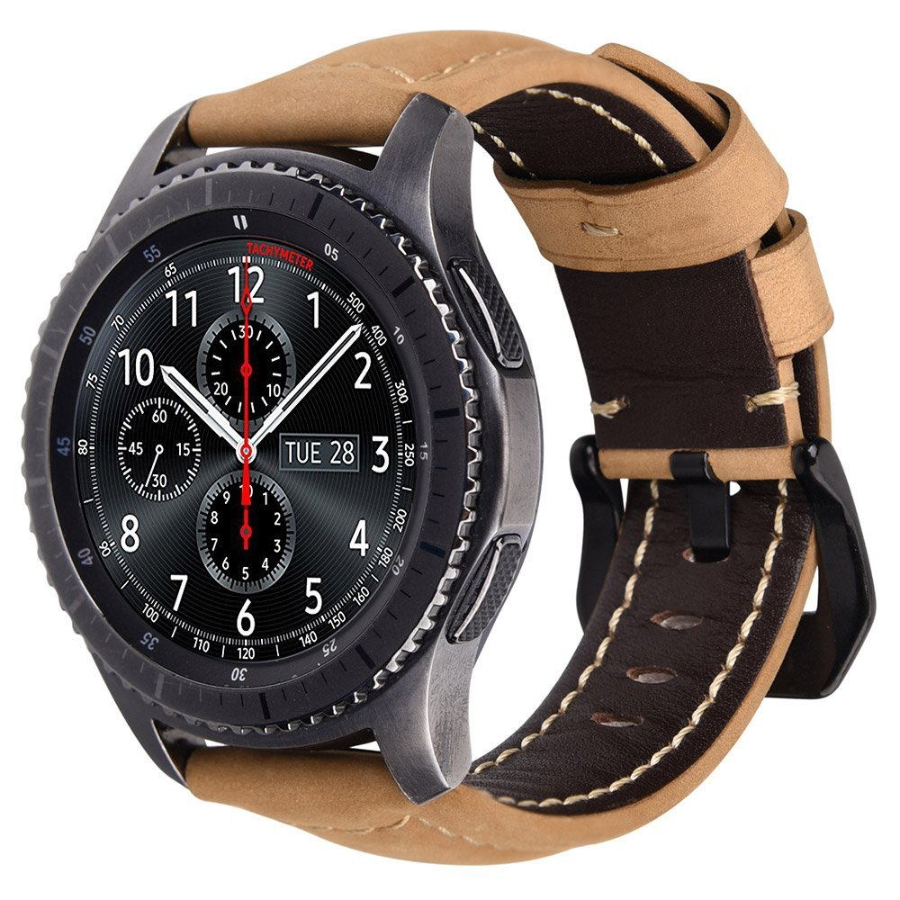 V-MORO Genuine Leather Strap For Samsung Gear S3 Band Replacement Watch Bracelet For Gear S3 Classic frontier Smart watch lord foresta umbra moro 50x50