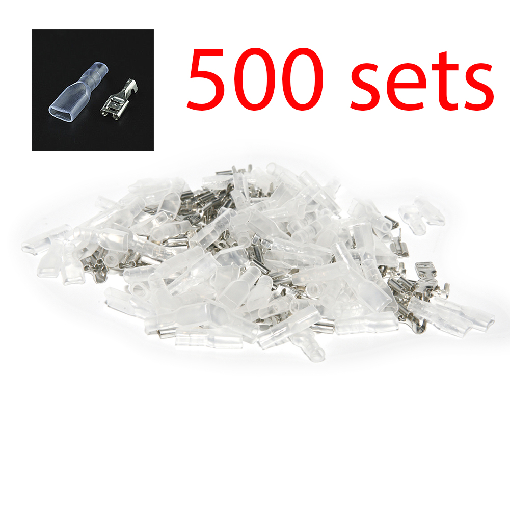 500pcs Female 4.8mm Spade Connector Insulated Crimp Terminals Electrical Wire сумка kate spade new york wkru2816 kate spade hanna