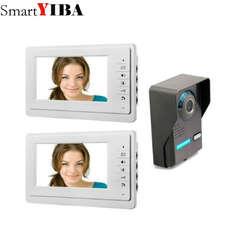 SmartYIBA 7 ''HD проводной дверной звонок с Камера видеодомофон Indoor дверь визуальный телефон Системы открытый мониторинга безопасности