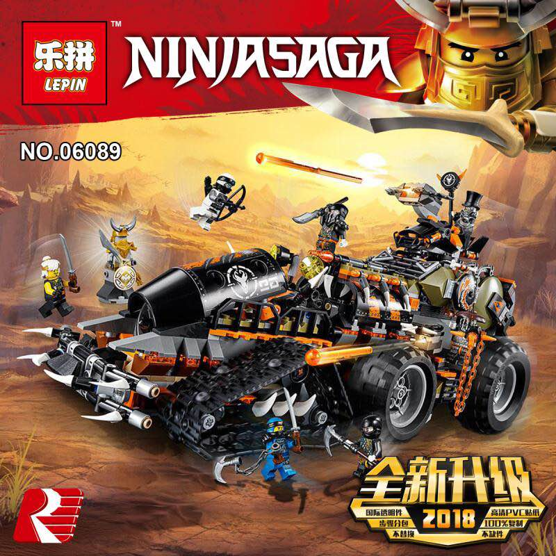 Lepin 06089 New Toys 1320PCS Ninjagoings Series The Legoing 70654 Dieselnaut Set Building Blocks Bricks Kids Toys Christmas Gift new 1628pcs lepin 07055 genuine series batman movie arkham asylum building blocks bricks toys with 70912 puzzele gift for kids