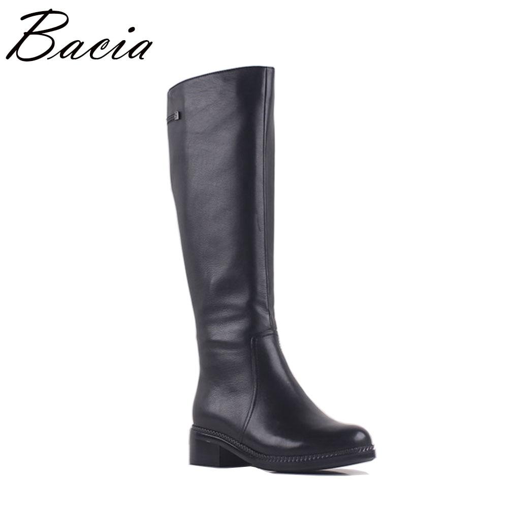 Bacia/натуральный кожаные сапоги новые женские модные женские из натуральной кожи обувь для отдыха осень-зима на низком каблуке теплые ботинк...