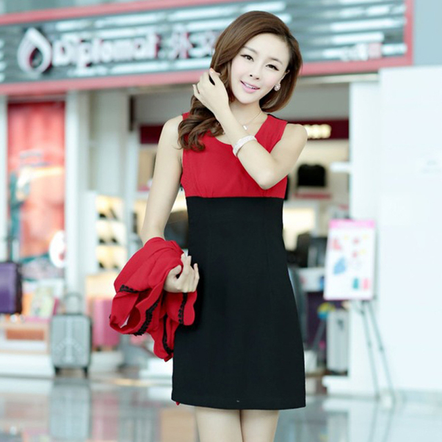 Free shipping 2013 autumn new arrival women's fashion ol coat tank dress twinset one-piece dress 0225851353