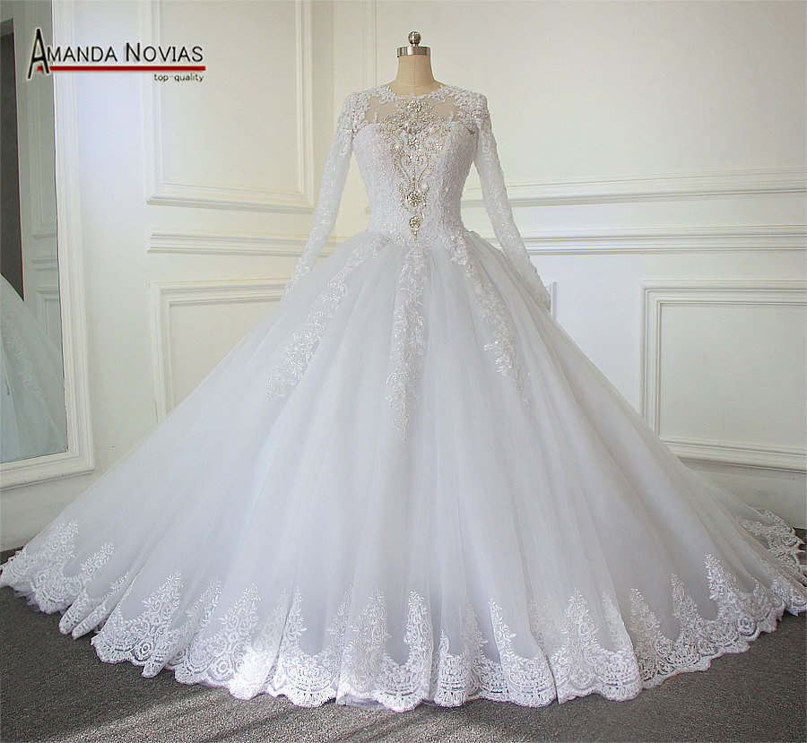 Royal Wedding Ball Gown: 2018 Luxury Cathedral/Royal Train Ball Gown Wedding Dress