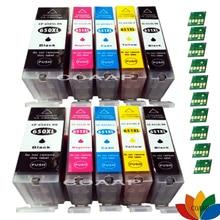 10x Compatible Ink Cartridge PGI 650 XL CLI 651 for Canon Pixma IP7260 MX926 MG5460 MX920 MG7160 MG6540 for canon pgi 650 cli 651 5pk ink cartridge for canon pixma mg5460 mg5560 mg6360 mg6460 mg7160 pixma mx926 mx726 ip7260