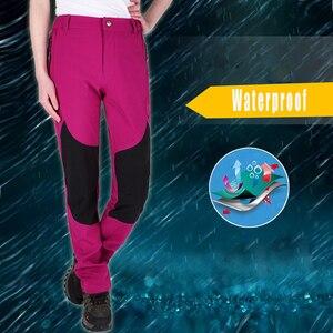 Image 4 - WWKK 야외 하이킹 전술 방수 바지 남성 등산 빠른 건조 낚시 트레킹 Softshell Trousers New wanderhose