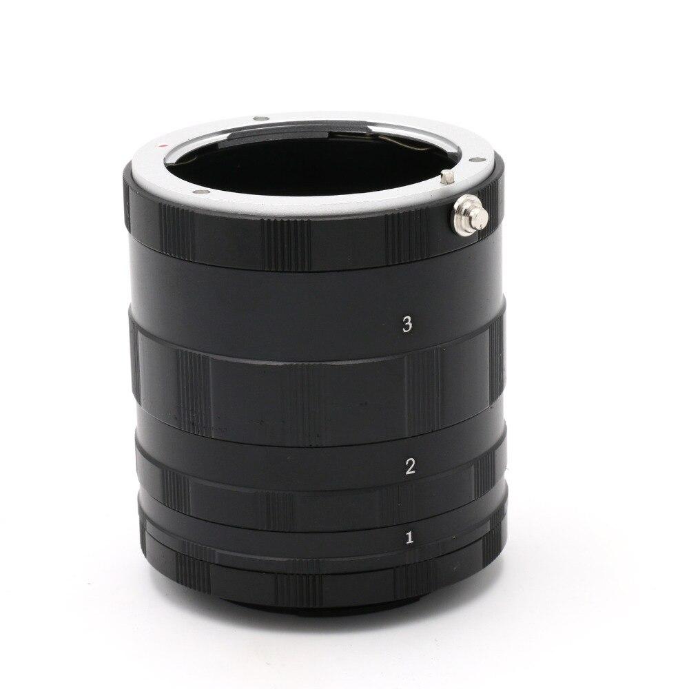 Tubo de extensión macro 3 Anillos para Sony ILCE NEX e-mount nex3n nex5 nex5n nex7 nex6 nex5t nex5r a5100 a5000 a6000 a3000 nex-vg10