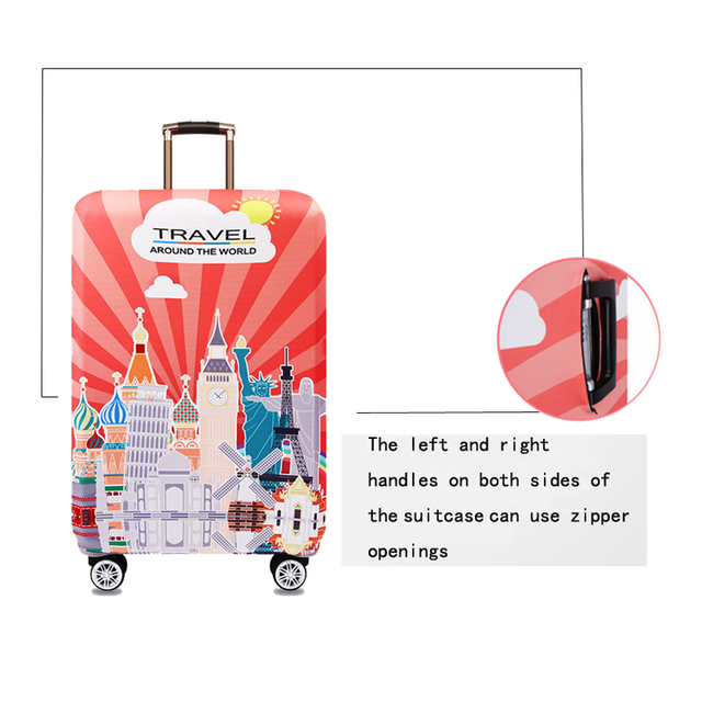 World Map Design Luggage Protective Cover Travel Suitcase Elastic Dust Cases For 18 to 32 Inches Accessories 2