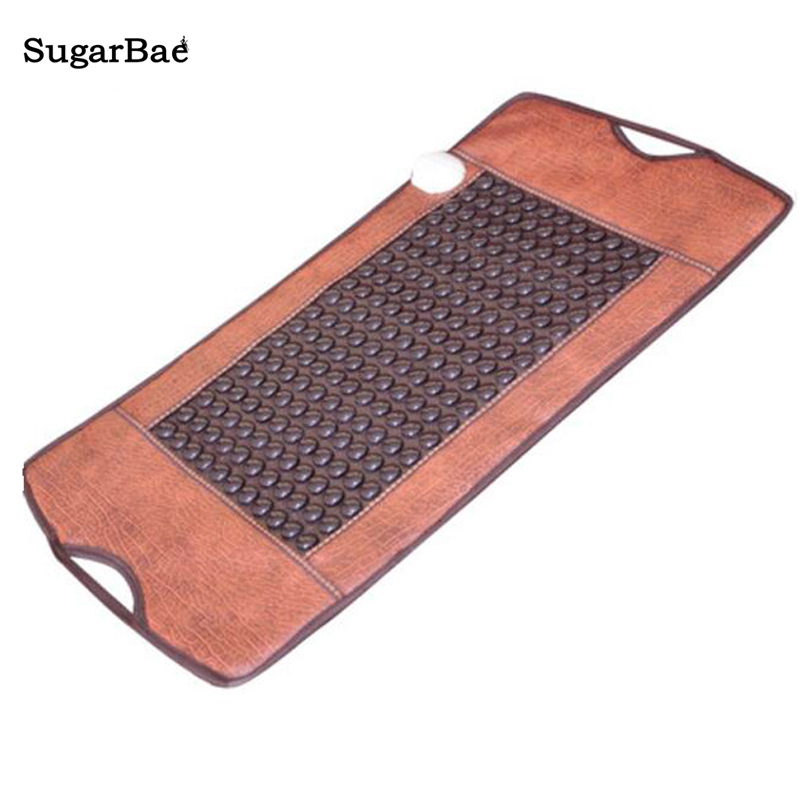2017 New Heating Massage Mat Heated Jade Stones Cushion Tourmaline Health Products Heating Sleeping Mat Size 100*50CM 2017 new heating massage mat heated jade stones cushion tourmaline health products heating sleeping mat size 100 50cm