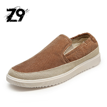 New canvas men shoes casual flats jeans boat shoes fashion loafers comfortable sneakers Autumn spring Breathable shoes for men