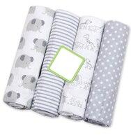 4 шт./лот муслин 100% хлопок фланель детские одеяла новорожденных пеленает мягкие детские одеяла новорожденных муслина подгузники ребенка пеленать обёрточная бумага