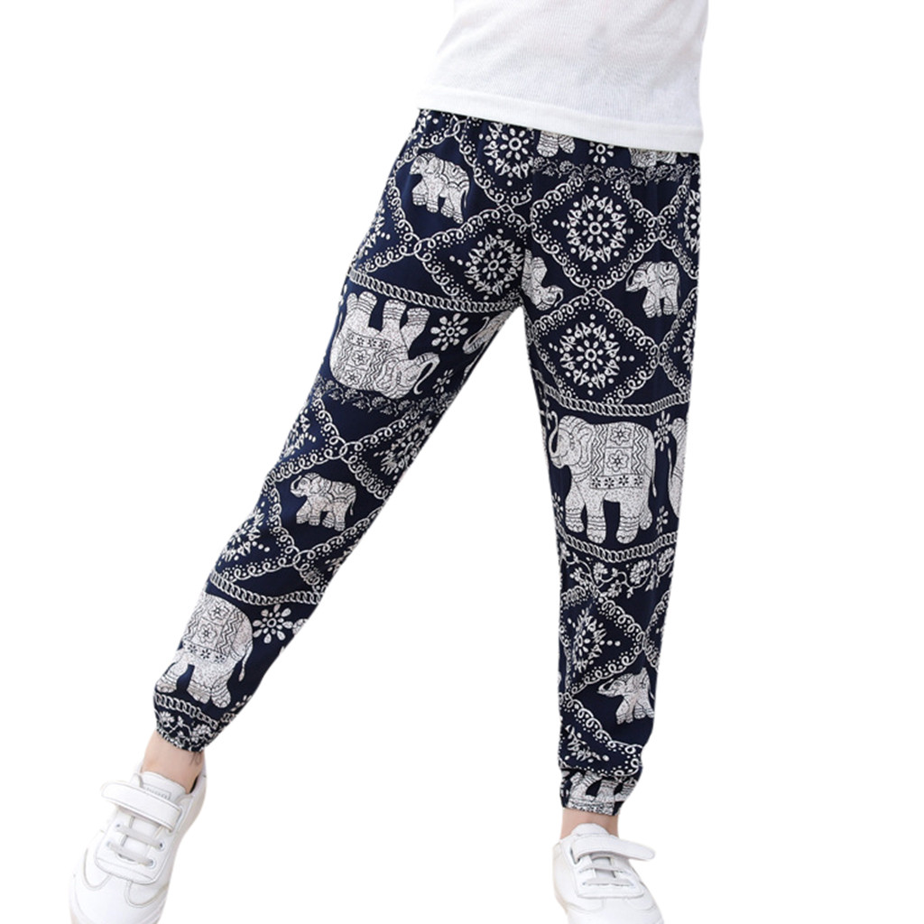 Boys Trousers Harem-Pants Beach-Wear Camouflage Dance-Clothing Child Bohemian For Bloomers