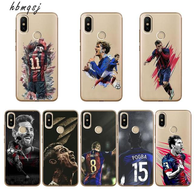 meet 0553c 2a2fb US $1.1 37% OFF|Cool football player champion phone case for xiaomi mi a2  6x back cover Messi Neymar player for mi a2 6x silicone soft tpu case-in ...
