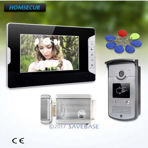 HOMSECUR 7inch Video Door Entry Call System with Keyfobs Unlocking Camera for House/ FlatHOMSECUR 7inch Video Door Entry Call System with Keyfobs Unlocking Camera for House/ Flat