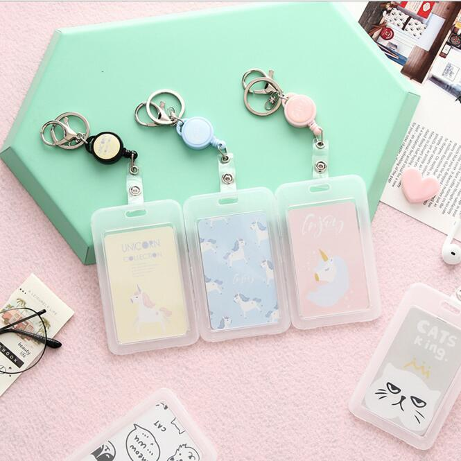 1 Piece Pretty Fashion Card Holder Bus Office Working Card Case Card Bags Students Card Holder Stationery