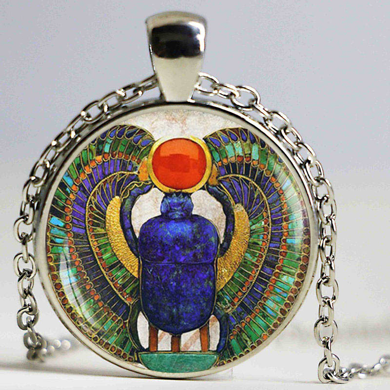 Wholesale glass dome egyptian scarab pendant ancient for Egyptian jewelry
