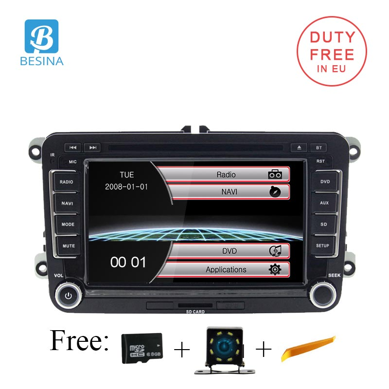 Besina Car DVD player radio 2 Din Car Radio Audio For VW Golf 6 Golf 5 Passat b7 cc b6 SEAT leon Tiguan Skoda Octavia Multimedia