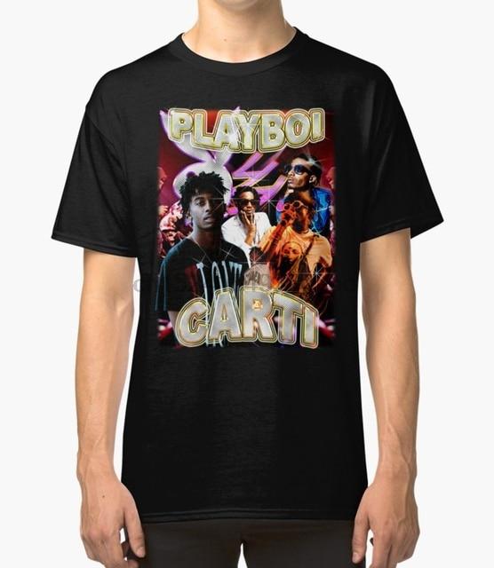 3fcd8f54 Printed Men T Shirt Cotton O-Neck tshirts Vintage Playboi Carti Illicit  Epiphany Short-