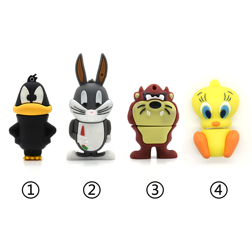 New Style Cute Cat Pen Drive Duck Usb Flash Drive 64g 32g 16g 8g 4g Cartoon Animal Pendrive Usb2.0 Memory Stick Rabbit U Drive