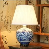 Chinese Vintage Classic White Blue Porcelain Table Lamp for Bedroom Ceramic Vase New Design Home Decoration Bedside TLL 297