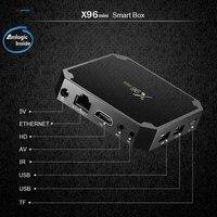 10 PCS Lot X96 Mini 1GB 8GB Android 7 1 Smart TV Box Amlogic S905W Quad