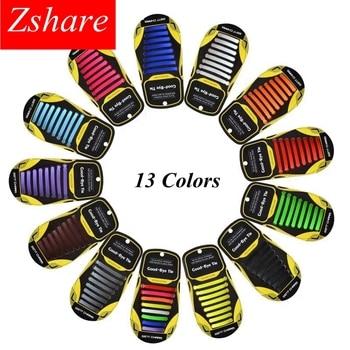 16pcs/lot Quality Silicone Shoelaces Elastic No Tie Shoe laces Unisex Rubber Shoelace Kids Adult Lazy Laces