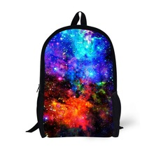купить Star Universe Printing Backpack Bag Children School Bags For Teenager Boys girls Backpacks Laptop Backpack дешево