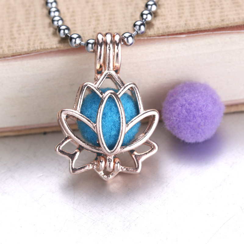 6pcs Bright Silver beautiful Life Lotus Pearls Cage Jewelry Bead Cage Pendant