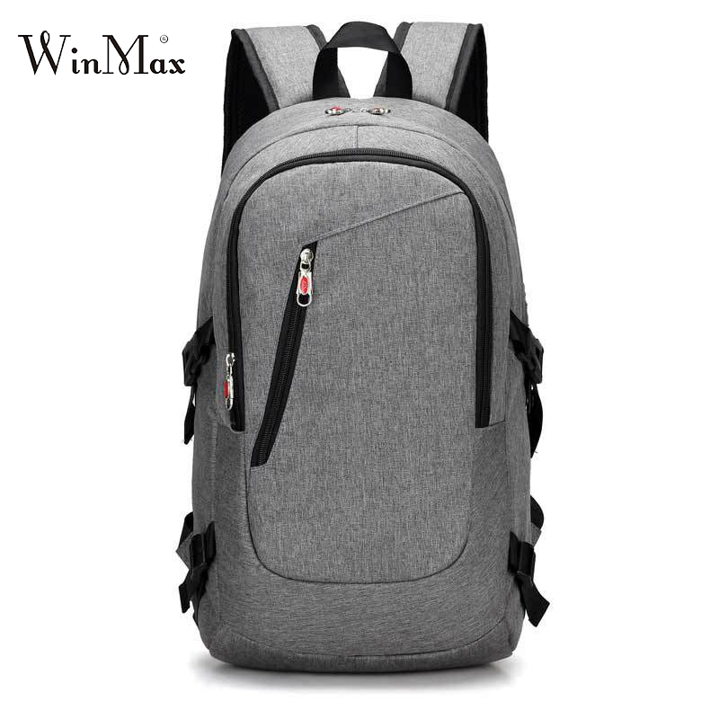 New Laptop Backpack Male USB Shoulder Bag 15-17inches Business Backpack Men Mochila Travel Backpacks School Bags For Teenagers logo messi backpacks teenagers school bags backpack women laptop bag men barcelona travel bag mochila bolsas escolar