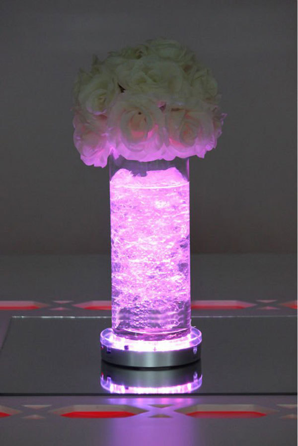 Free Shipping 6inch Remote Controlled LED Vase Lights Wedding Centerpieces Table Light Base Party Vases Decoration In Glow Supplies From Home