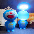 Синий кот спальня ночники аккумуляторная мини складной СВЕТОДИОДНЫЕ лампы мультфильм Ночная творческий детского чтения