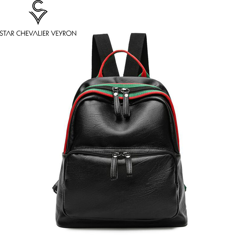 2017 new style high quality women backpacks fashion trend solid striped decoration women shoulder bags new