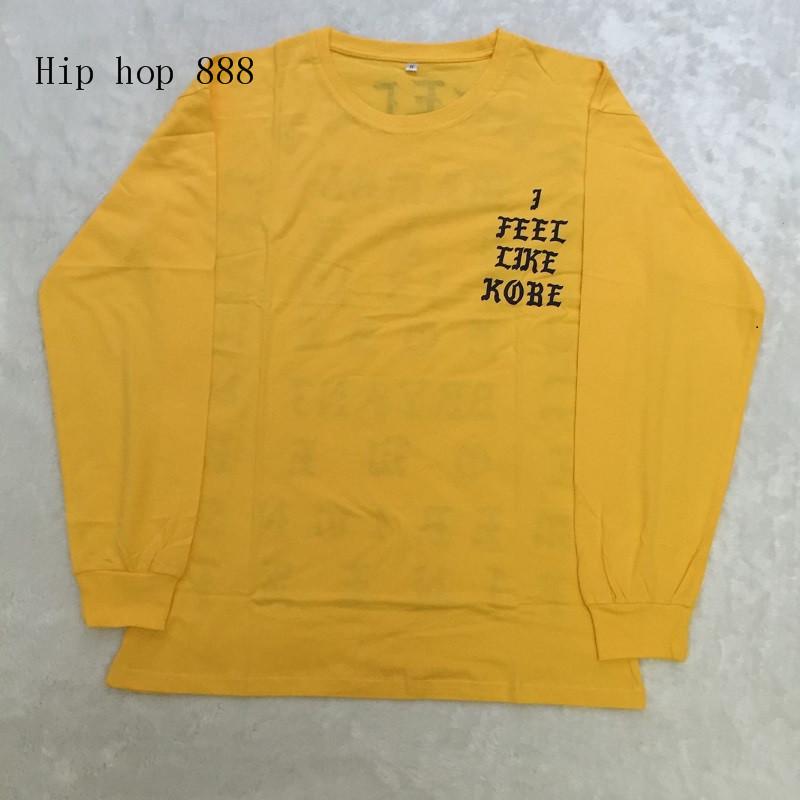 HTB1iXH.NpXXXXXMXFXXq6xXFXXXy - Kanye West I Feel Like Kobe long sleeve commemorate T shirt PTC 108