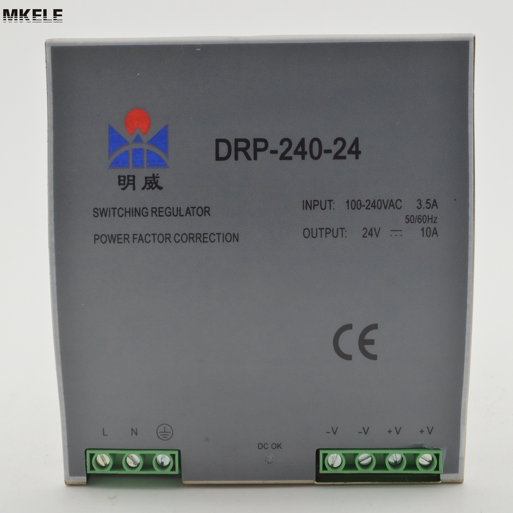 Hot Sale 24 Volt switching Power source Supply Din Rail 240W 24V 10A DR-240-24 China high efficiency cheap price din rail switching power source supply 75watts dr 75 24 3 2a 24v with ce certification china