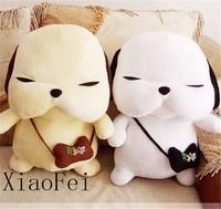 Quality Frist New One Korean STRAY DOG PUPPY Plush Doll Toy 17 High White Grey Christmas