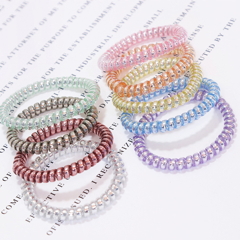 New Korean High Quality Candy Color Telephone Line Elastic Hair Bands Women Hair Accessories Girl Rubber Bands Simple Hair Ropes 10pcs lot high quality telephone line headband gum elastic hair bands candy color rubber band for women girls hair accessories