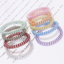 New Korean High Quality Candy Color Telephone Line Elastic Hair Bands Women Hair Accessories Girl Rubber Bands Simple Hair Ropes