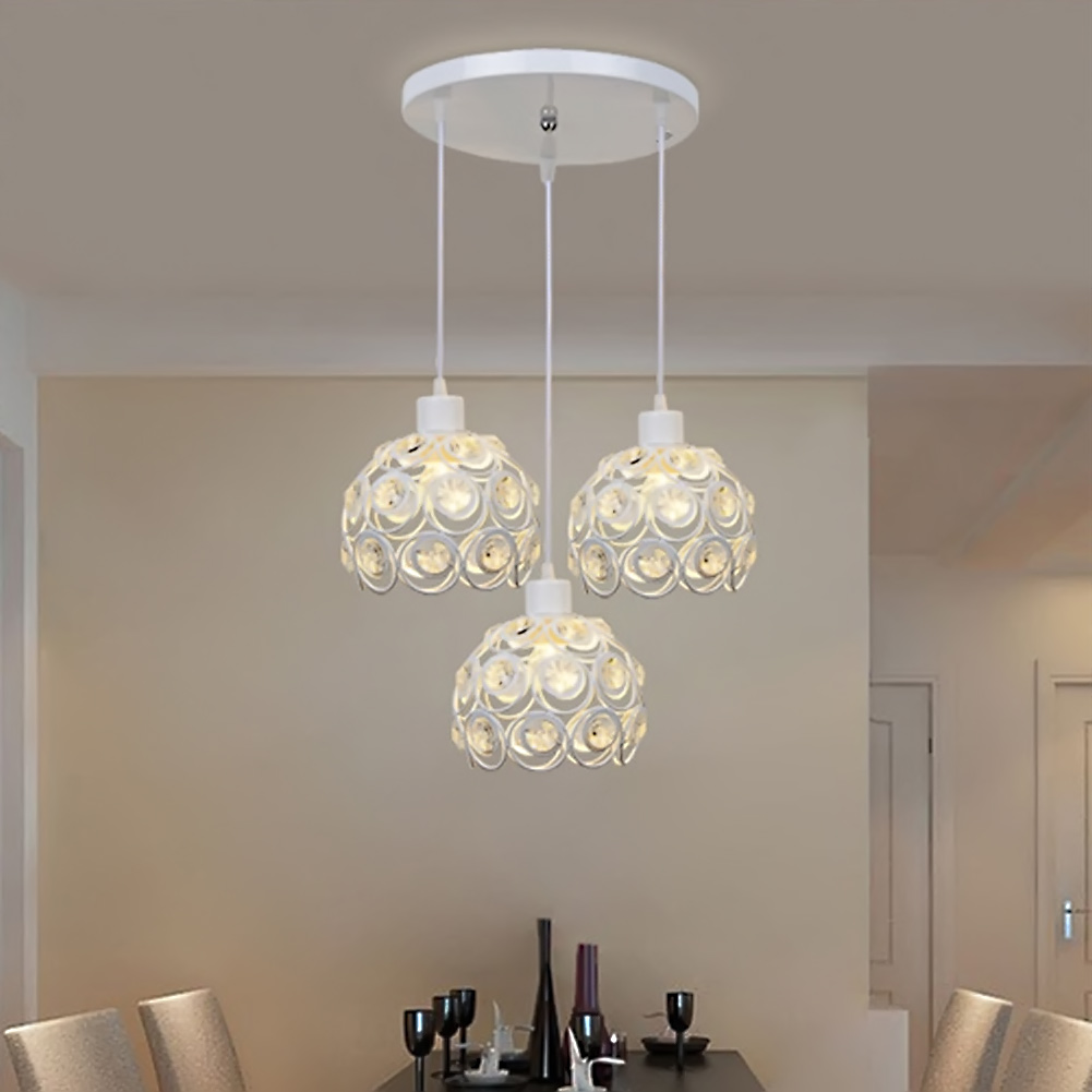 Lighting kitchen dining room lamp luminaire in chandeliers from lights - Modern Crystal Pendant Lamp 3 Hanging Lamps Luxury Home Light Bedroom Kitchen Dining Room Hanging Lamps