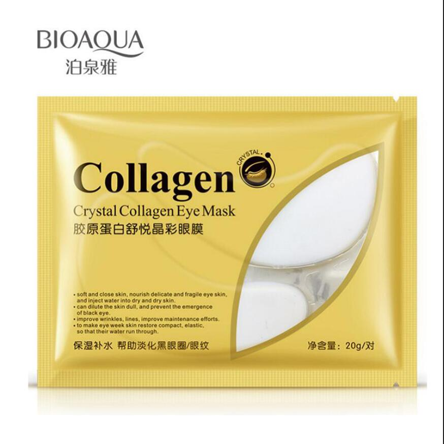 50 packs BIOAQUA Collagen Eye Mask Ageless Eye Patch Moisturizing Dark Circles Anti Wrinkle Anti-Puffiness Brighten Skin Care