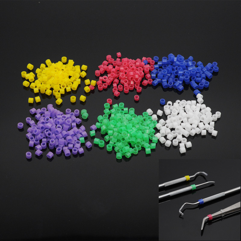 Dentist Lab Instrument Code Rings Orthodontic Circle Multi-Color Silicone 100pcs For Dental Supplies