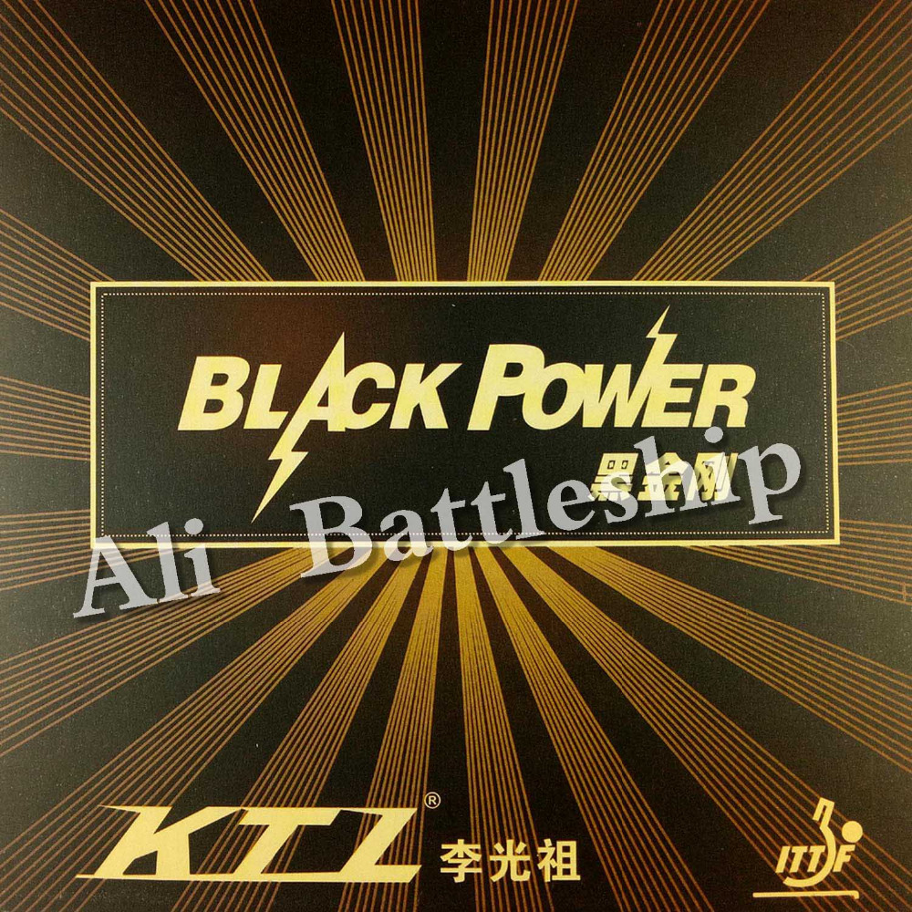 Original KTL BLACKPOWER Pips-in Table Tennis / Pingpong Strong Friction Rubber With Golden Cake Sponge