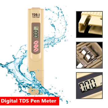 Portable Digital LCD TDS Meter Metr Purity Filter TDS Tester Water Quality Testing Pen 0-9990 PPM Temp Water Tester Accurate