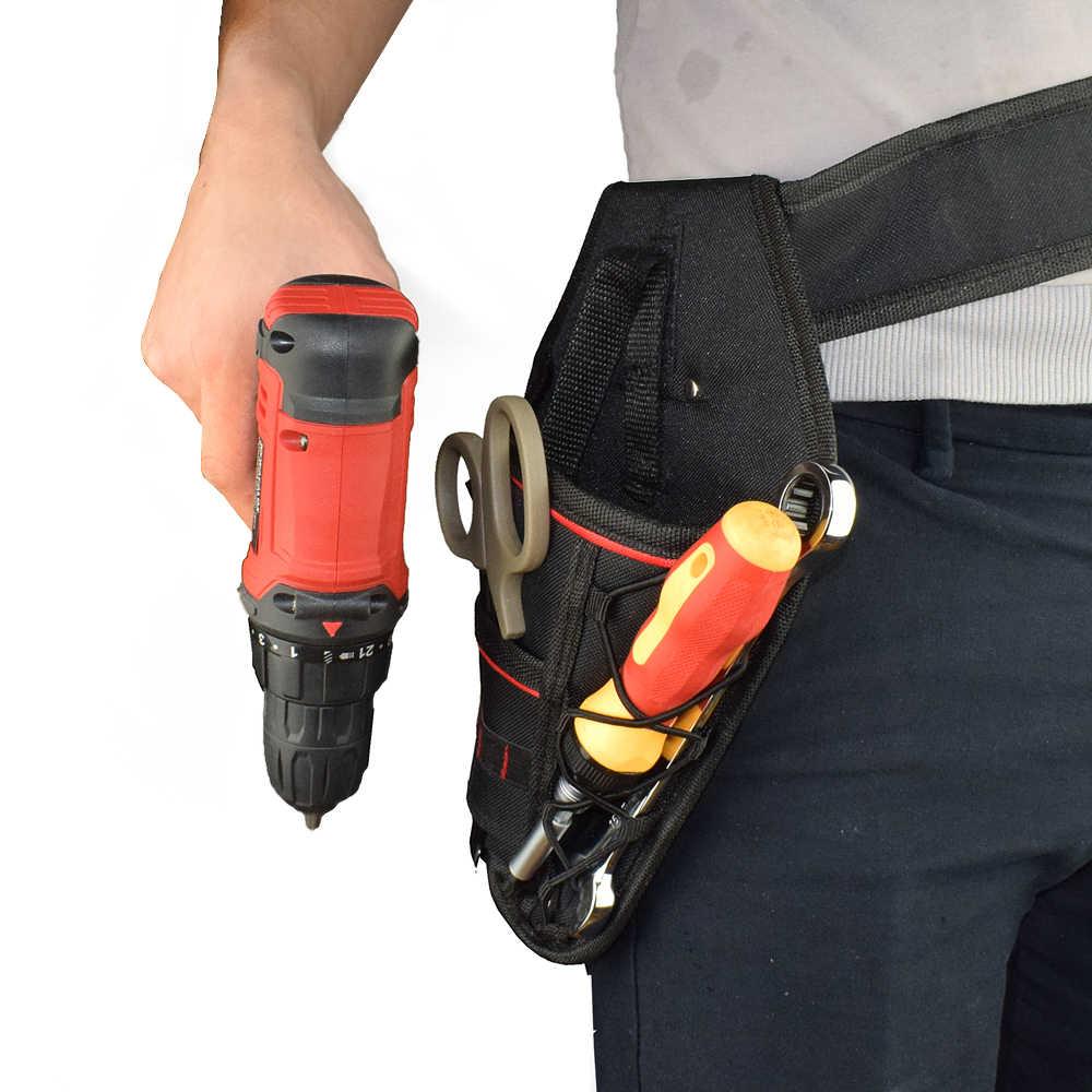 NEWACALOX 電気技師オックスフォードポケット収納袋防水ハードウェアウエストツールバッグ電気コードレスドリルホルダー道具袋